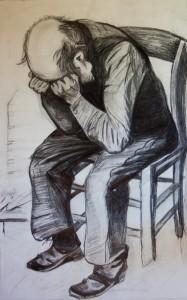 Old Man With Head In Hands (orig. by Van Gogh)